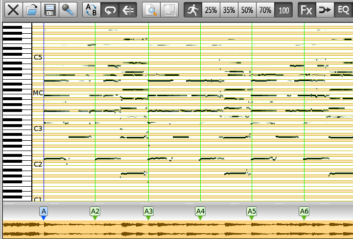 Trascribe Piano Roll View Transcribe